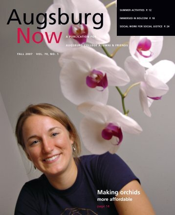 Download the Fall 2007 PDF - Augsburg College