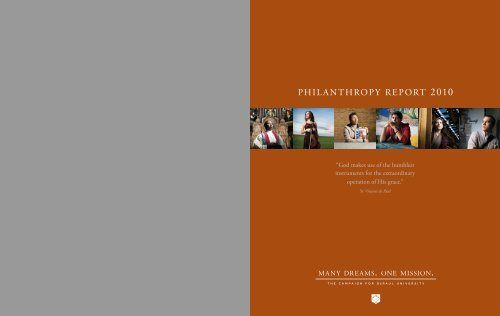 Philanthropy Report 2010 Alumni Depaul University