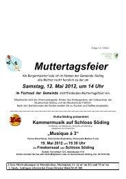 19. Mai 2012 - Gemeinde Söding
