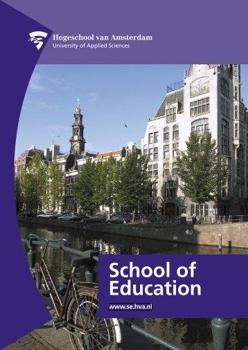 School of Education - Hogeschool van Amsterdam