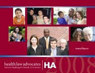 Annual Report - Health Law Advocates