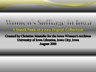 Women's Suffrage in Iowa - SDRC - University of Iowa