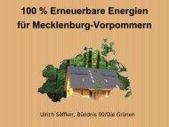 100 % erneuerbare Energien in Mecklenburg-Vorpommern bis zum
