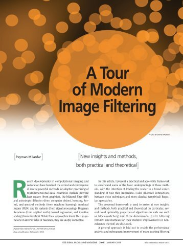 A Tour of Modern Image Filtering - Jack Baskin School of ...