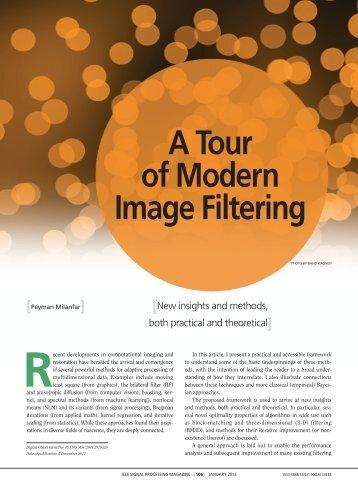 A Tour of Modern Image Filtering - Jack Baskin School of ...