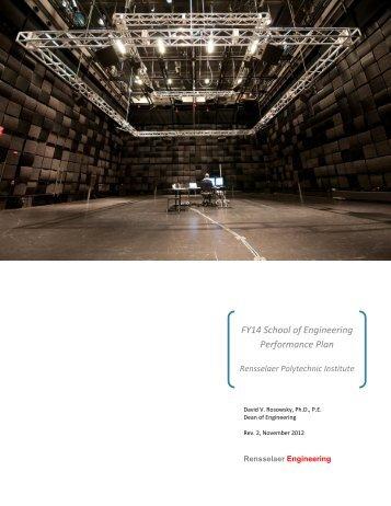 FY14 SoE Performance Plan - Rensselaer Polytechnic Institute