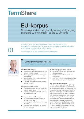 Hent produktbladet EU-Korpus her - Handelshøjskolen, Aarhus ...