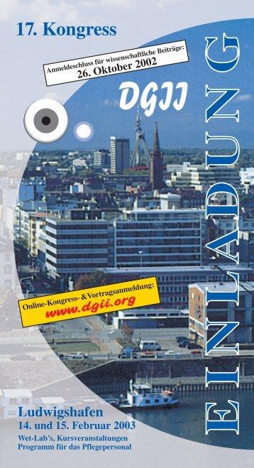 Einladung zum Download - Deutschsprachige Gesellschaft für ...