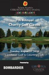 NMCF Golf tournament program