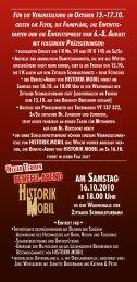 AM SAMSTAG 16.10.2010 AB 18.00 UHR - Zittauer Schmalspurbahn