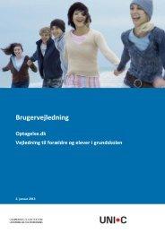Brugervejledning - Optagelse.dk