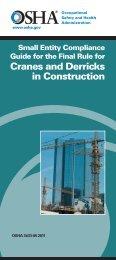 Cranes and Derricks in Construction - OSHA
