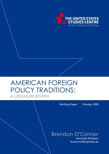 American foreign policy traditions - United States Studies Centre