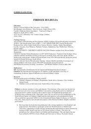 CURRICULUM VITAE: FIRDOZE BULBULIA - cifej