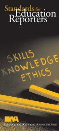 Standards for Education Reporters - Education Writers Association