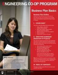Business Plan Basics - Engineering Co-op Office