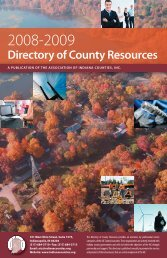 Directory of County Resources - Association of Indiana Counties