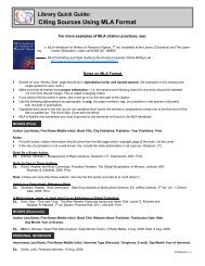 Citing Sources Using MLA Format - Columbus State Community ...