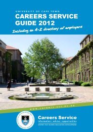 univerSitY of Cape toWn CareerS ServiCe GUiDe 2012