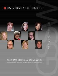 Doctoral Graduates 2011-2012 - University of Denver