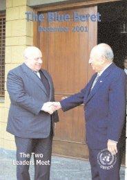 Blue Beret December 2001 - unficyp