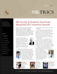 METRICS - Mechanical Engineering - University of Maryland