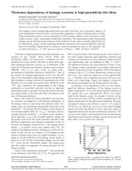 Thickness dependence of leakage currents in high-permittivity thin ...