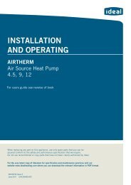 Air Source Heat Pump Manual - Ideal Heating