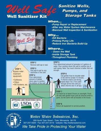 Well Safe Literature - Better Water Industries Inc.