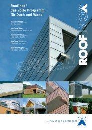 Roofinox Programm
