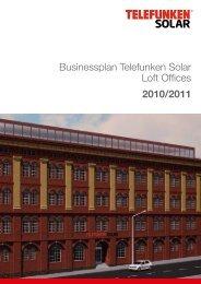 Businessplan Telefunken Solar Loft Offices 2010/2011
