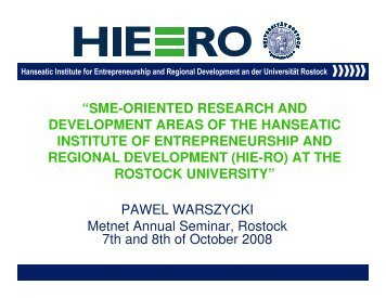 """""""SME-ORIENTED RESEARCH AND DEVELOPMENT AREAS OF ..."""
