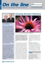 On the line - VB Factoring Bank AG