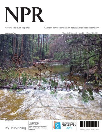 Natural Product Reports Current developments in natural ... - Stoa