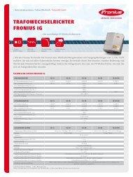 Technische Daten Fronius IG 15 - Fronius International GmbH