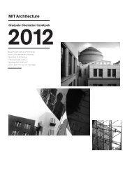Graduate Orientation Handbook - MIT Architecture