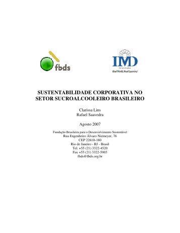 sustentabilidade corporativa no setor sucroalcooleiro brasileiro