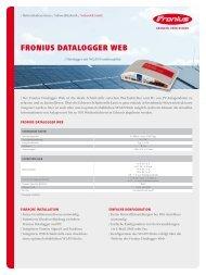 Fronius Datalogger Web - Fronius International GmbH