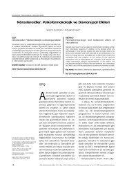 Nörosteroidler - Klinik Psikofarmakoloji Bülteni