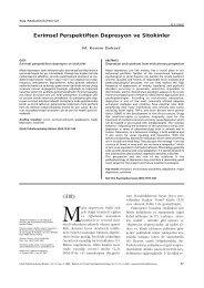Evrimsel Perspektiften Depresyon ve Sitokinler - Klinik ...