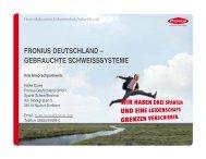 gebrauchte schweisssysteme - Fronius International GmbH