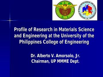 Profile of Research in Materials Science and Engineering