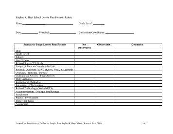 Sample Lesson Plan Format If Your County Officeschool District - School lesson plan template