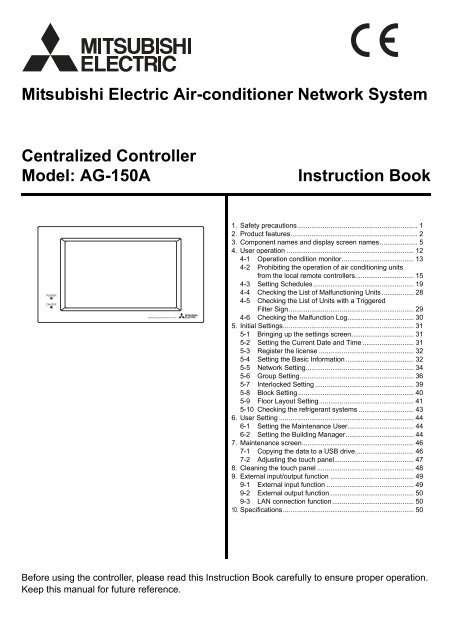 AG-150A - Mitsubishi Electric Australia