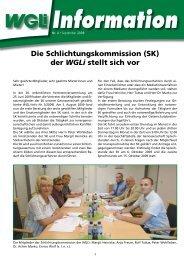 Die Schlichtungskommission (SK) der WGLi stellt sich vor