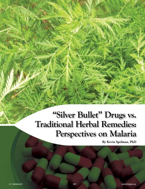 """""""Silver Bullet"""" Drugs vs. Traditional Herbal Remedies ... - Anamed"""