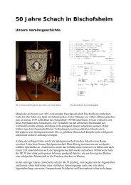 50 Jahre Schach in Bischofsheim - SK 59 Bischofsheim eV