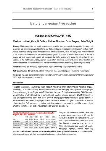 Natural Language Processing - FOI Bulgaria