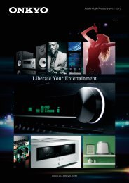 ONKYO Audio Video Products 2012-2013