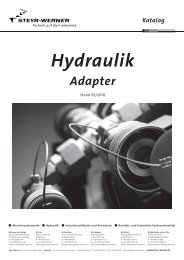 Katalog Hydraulik Adapter - Steyr-Werner